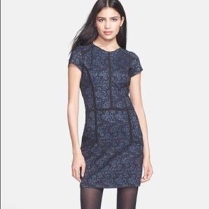 Parker Dia Printed Cap Sleeve Lace Dress